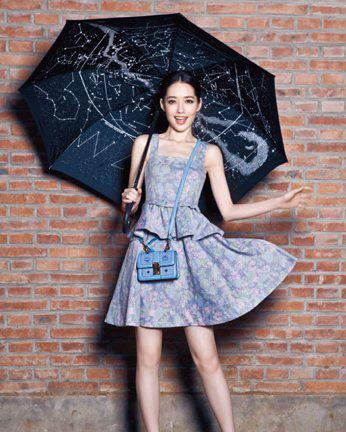 小时代郭碧婷演绎MCM包包 甜美少女更有女神范